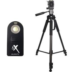 "XIT 72"" Tripod + Wireless Remote for Nikon D3300 D3100 D5300"
