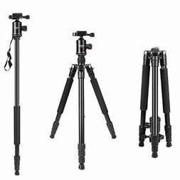 Camera Tripod, HolaFoto 65'' Travel Monopod Light Weight Alu
