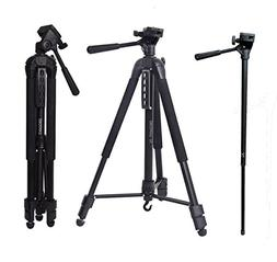 Camera Tripod, 72 inches Professional Video Tripod Monopod f