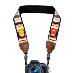 TrueSHOT Camera Strap with Vintage Striped Neoprene Pattern