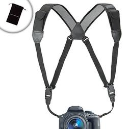 TrueSHOT Camera Strap Chest Harness with Accessory Storage P