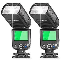 Neewer Two E-TTL Flash Speedlite for Canon DSLR Camera Such