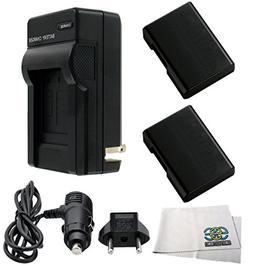 Two Replacement EN-EL14 ENEL14 Extended Life Batteries + Rap