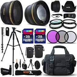 Xtech Ultimate 32 Piece Accessory Kit for Canon EOS Rebel T6