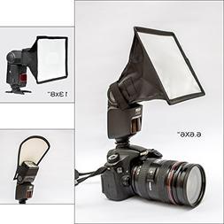 Universal Flash Diffuser Light Softbox. Collapsible Flash Di