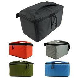 US Anti-shock Waterproof DSLR Camera Bag w/Zip Padded Case P