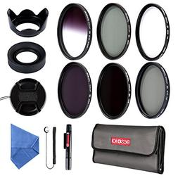 Beschoi 58mm UV CPL Filters, Neutral Density ND Filter Kit ,