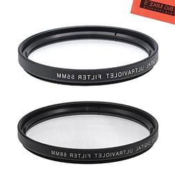 UV Protective Filter for 55mm and 58mm Multi-Coated Nikon D5