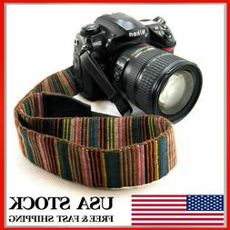VINTAGE CAMERA NECK SHOULDER SLING STRAP BELT FOR DSLR SLR C