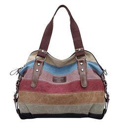 Koolertron Fashion Vintage Women's Shoulder Color block Bag