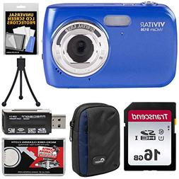Vivitar ViviCam S126 Digital Camera  with 16GB Card + Case +