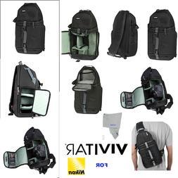 VIVITAR CAMERA SLING BACKPACK FOR NIKOND D3000 D3100 D3200 D