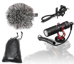 Movo VXR10 Universal Video Microphone with Shock Mount, Dead