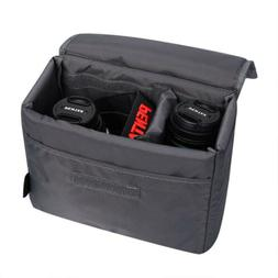 Water Resistant DSLR SLR Partition Padded Camera Bag TLR Ins