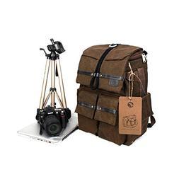 BESTEAM Waterproof Canvas DSLR SLR Camera Laptop Backpack Ba