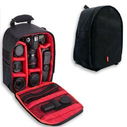 Waterproof DSLR Camera Backpack Shoulder Bag Travel Case For