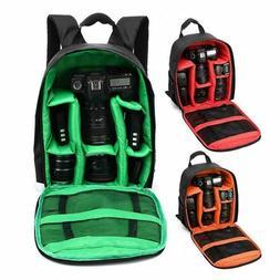 Waterproof DSLR SLR Camera Backpack Laptop Bag Rucksack For