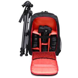 Waterproof DSLR SLR Camera Backpack +Laptop Shoulder Bag Cas