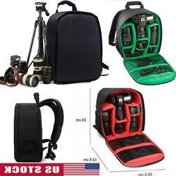 Waterproof DSLR SLR Camera Shoulder Case Bag Backpack For Ca