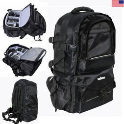 Waterproof Large BLK Backpack Bag Case for Camera Lens DSLR