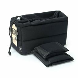 Waterproof Partition Padded Camera Bag DSLR SLR TLR Insert L