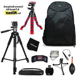 Well Padded Camera Backpack + 60 inch Tripod + 12 inch Flexi