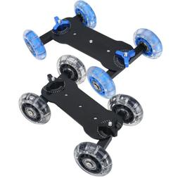 Wheels DSLR Video Camera Track Car Stabilizer Rail Rolling S