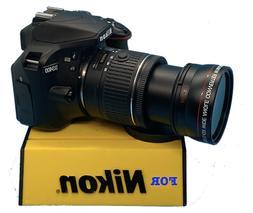 Wide Angle Macro Lens for Nikon Af-s Dx Nikkor 18-55mm f/3.5