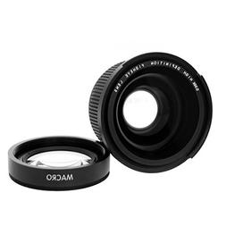 Kingzer 52 mm 0.35X Wide Fisheye Lens with Bag for Canon Nik