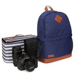 "Kattee Women's Canvas SLR DSLR Camera Backpack 14"" Laptop Ba"