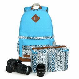 Koolertron Vintage Canvas DSLR Camera Bag Insert Case Backpa