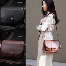 Women DSLR SLR Camera Lens Padded Bag Leather Travel Shoulde