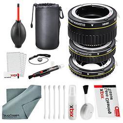 Xit Auto Focus Macro Extension Tube Set for Nikon SLR Camera