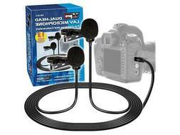 Vidpro XM-DLC Dual-Head Interview Lavalier Microphone for DS