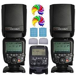 Yongnuo YN600EX-RT II Wireless Flash Speedlite 2PCS + YN-E3-