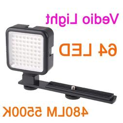 GigaMaxYONGNUO SYD-0808 64 LED Vedio Photo Light for DSLR Ca