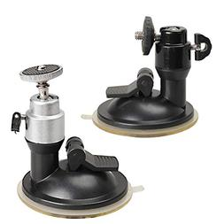 Youitankai Car DVR 70mm Suction Cup Mount Bracket with 1/4in